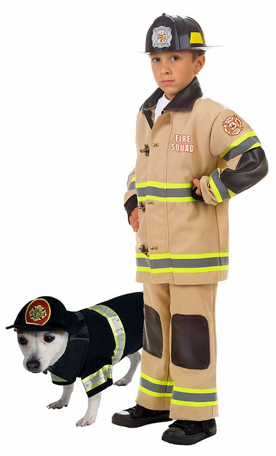 Fireman Costume with Pet