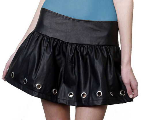School Girl Leather Studded Skirt