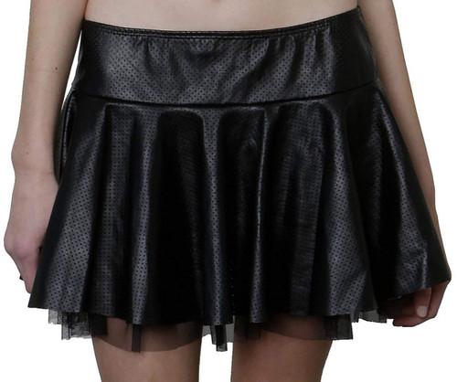 Sexy School Girl Leather Skirt