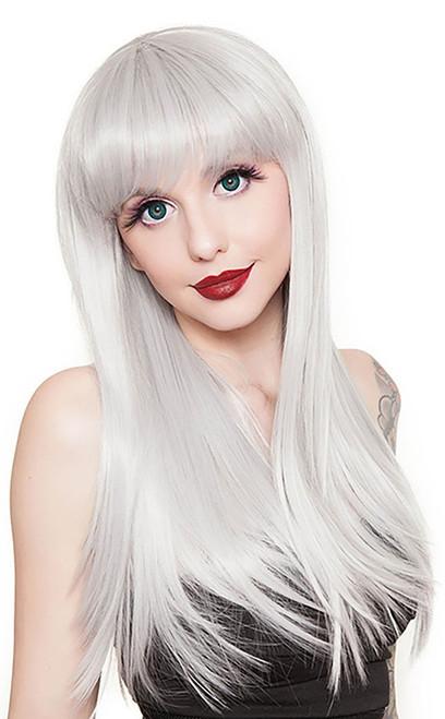 Bang Straight Silver Wig