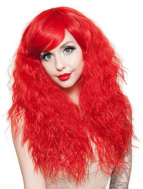 Crimped Style Red Wig