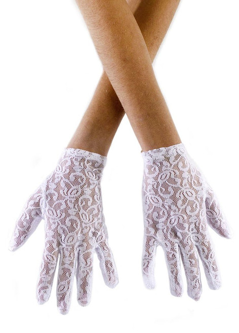 Lace Adult Gloves White