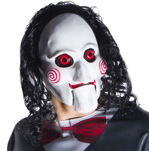 Jigsaw Billy 3/4 Adult Mask with Hair