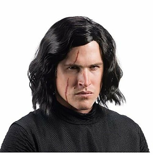 Adult Kylo Ren Wig And Scar Set