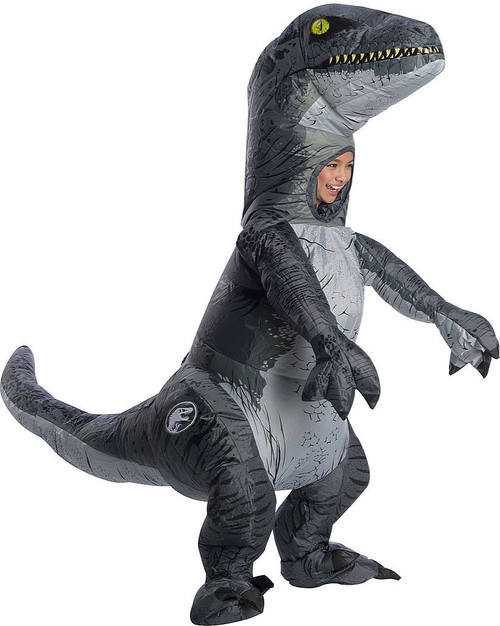 Jurassic World Velociraptor Inflatable Kid Costume with sound