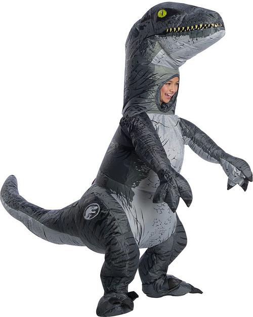Jurassic World Velociraptor Inflatable Kid Costume with sound