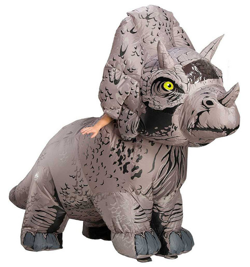 Jurassic World Triceratops Inflatible Adult Costume
