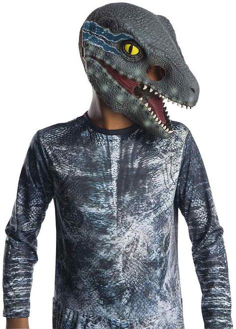 Velociraptor Blue 3/4 Child Dinosaur Mask