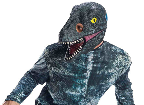 Velociraptor Blue 3/4 Adult Dinosaur Mask