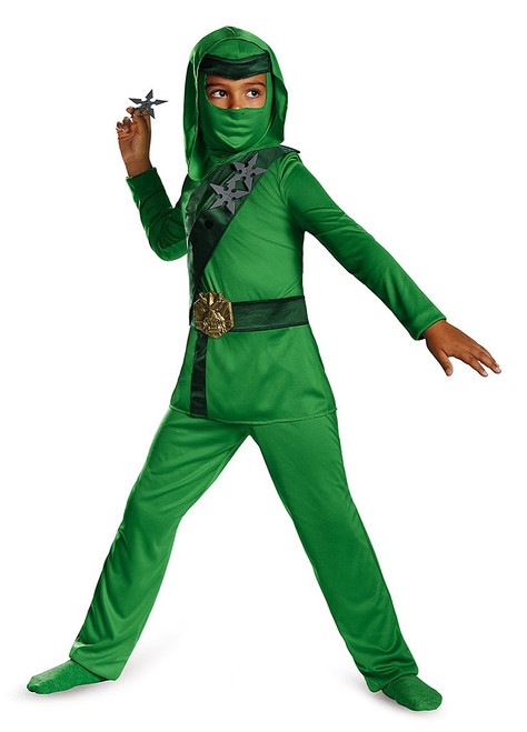 Green Master Ninja Boys Costume