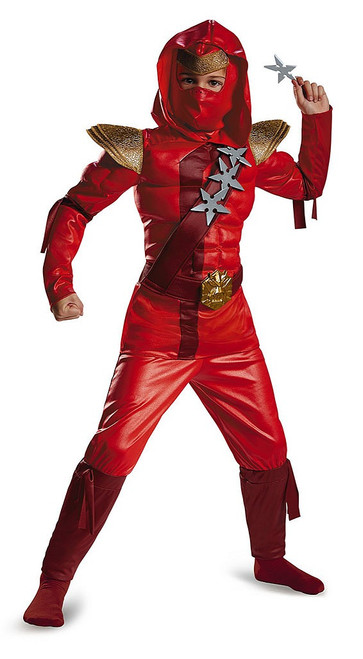 Red Fire Ninja Child Muscle Costume