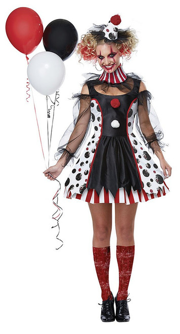 Twisted Clown Womens Costume