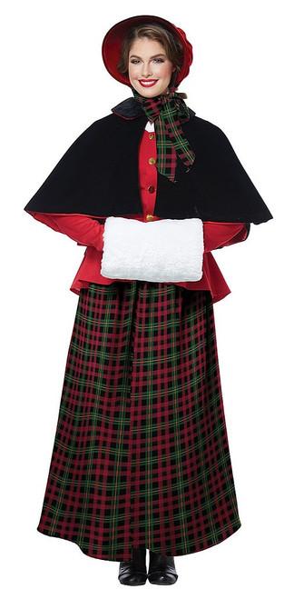 Christmas Holiday Caroler Womens Costume