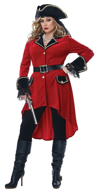 High Seas Pirate Womens Plus Costume