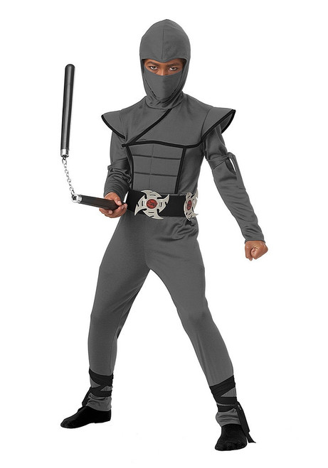 Grey Stealth Ninja Child Costume