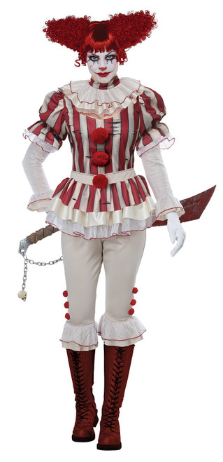 Sadistic Clown Womens Costume