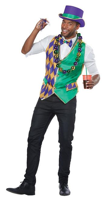 Mardi Gras Vest Kit Adult Man