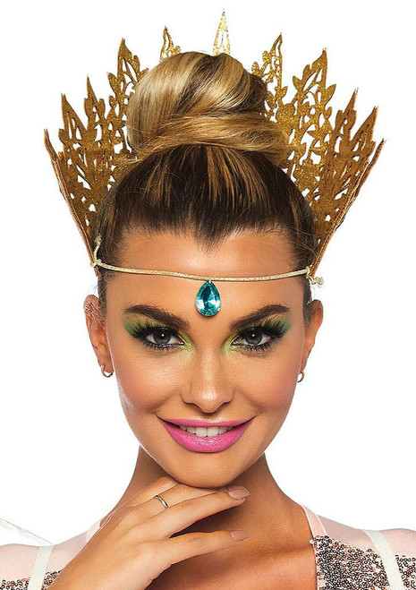 Glitter Crown with Jewel Accent