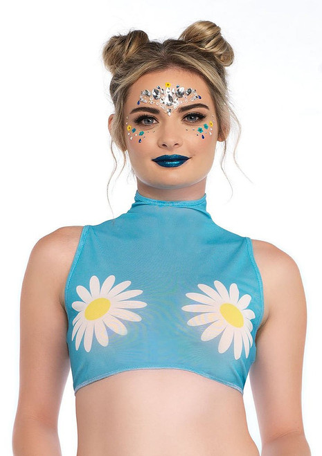 Womens Daisy Crop Top