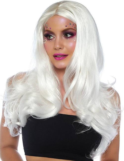 Long Wavy White Wig