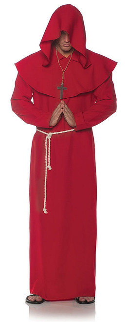 Monk Adult Robe in Red
