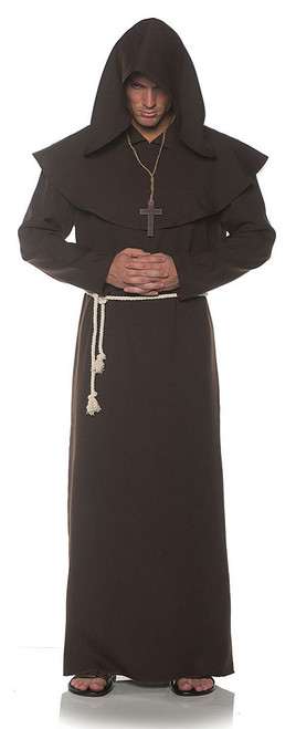 Monk Adult Robe in Brown