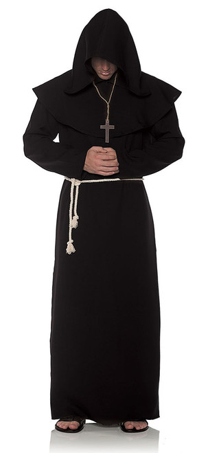 Monk Adult Robe in Black