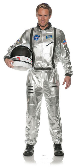 Astronaut Adult Costume in Silver