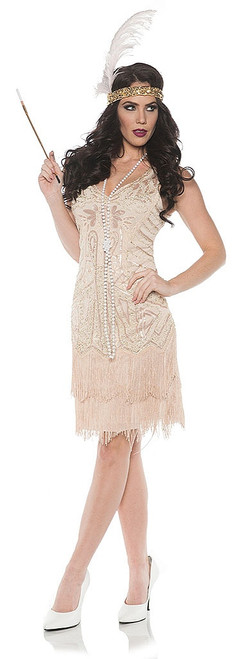1920 Rose Flapper Dress