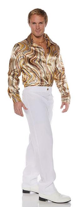 70s Disco Shirt with Swirls