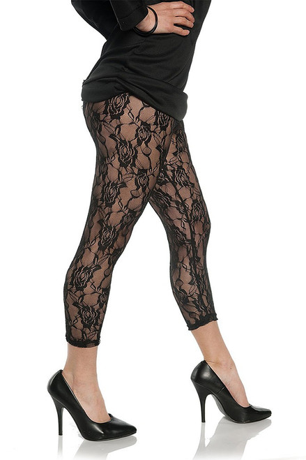 Lace Leggings in Black