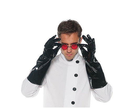 Mad Scientist Black Vinyl Gloves