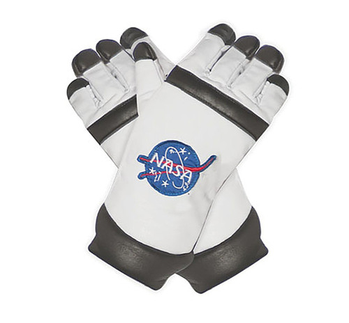 Astronaut Adult Gloves in White