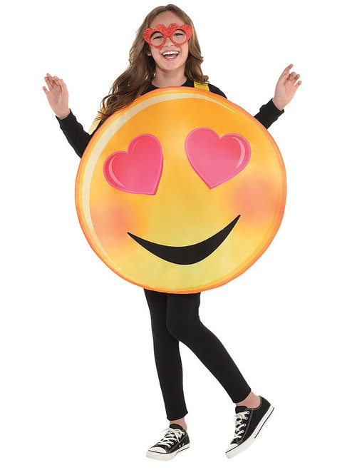 Emoji Heart Eyes Girls Costume