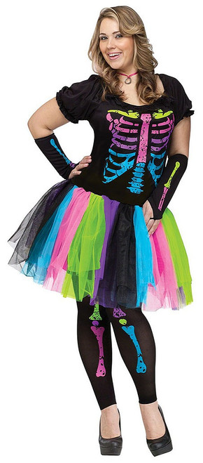Womens Funky Punk Bones Costume
