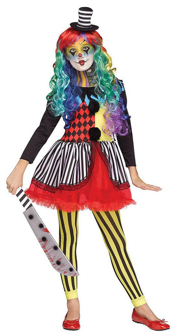 Freakshow Clown Girls Costume
