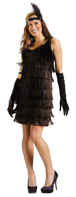 Womens Black Flapper Dress