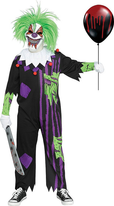 Demented Clown Child Costume