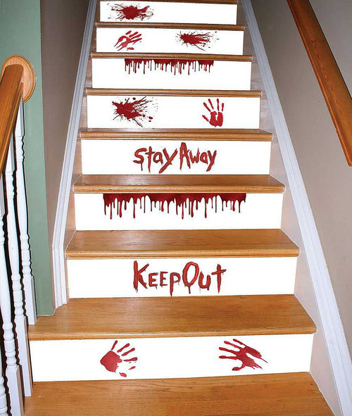 Watch Your Step - Bloody Red Stair Decor