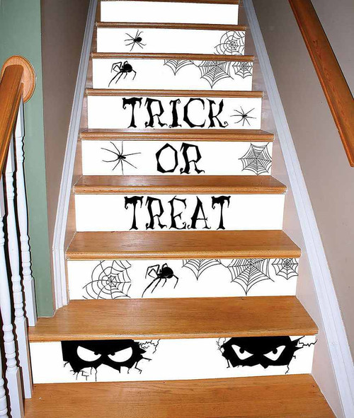 Watch Your Step - Spooky Black Stair Decor