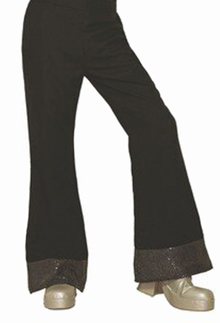 Men Black Disco Pants