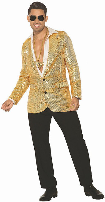 Disco Men Golden Sequin Blazer