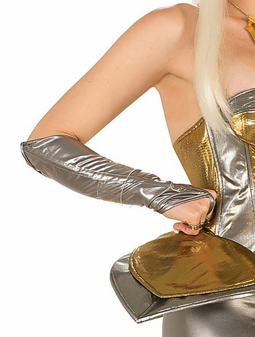 Silver Futuristic Arm Sleeves