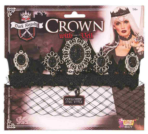 Black Crown with Veil