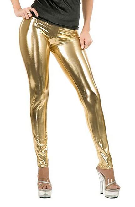 Gold Leggings Women