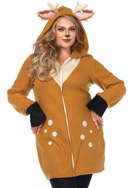 Cozy Deer Women Costume Plus