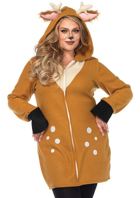 Cozy Deer Women Costume Plus