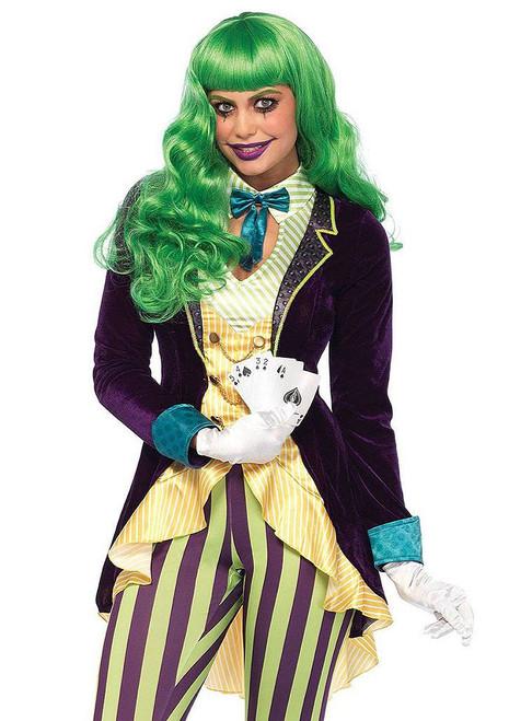 Twisted Trickster Women Clown Costume