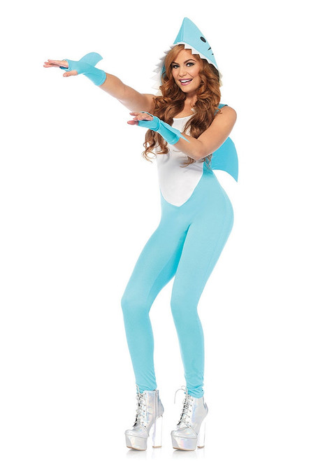 Shark Jumpsuit Womens Costume