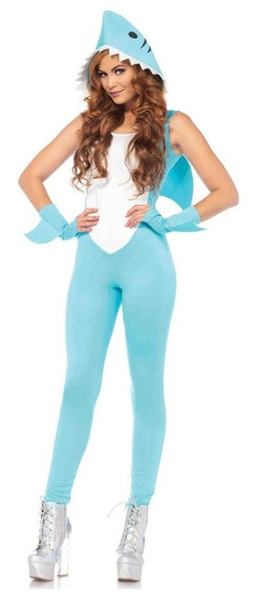 Shark Jumpsuit Womens Costume